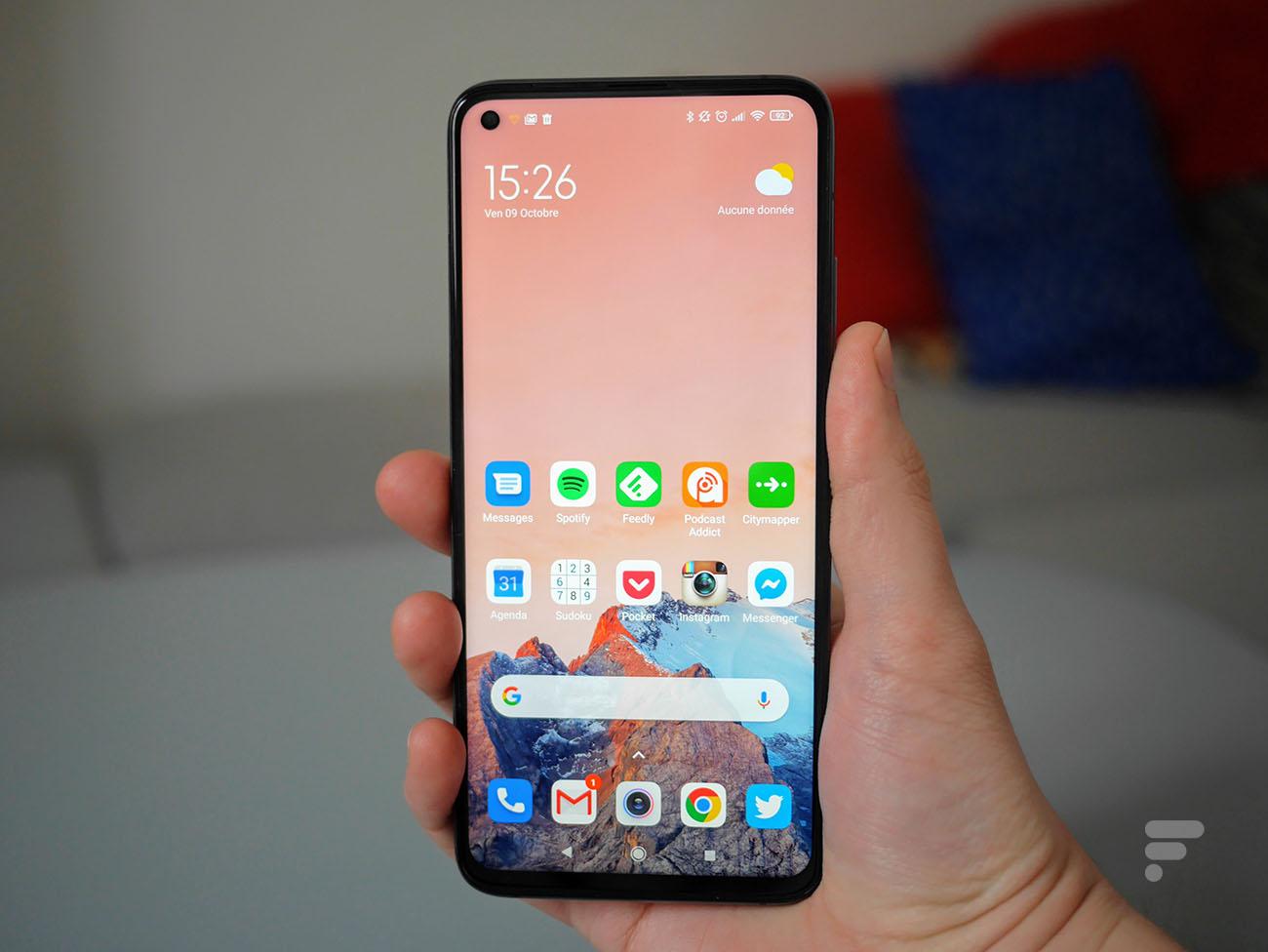 L'écran du Xiaomi Mi 10T Pro
