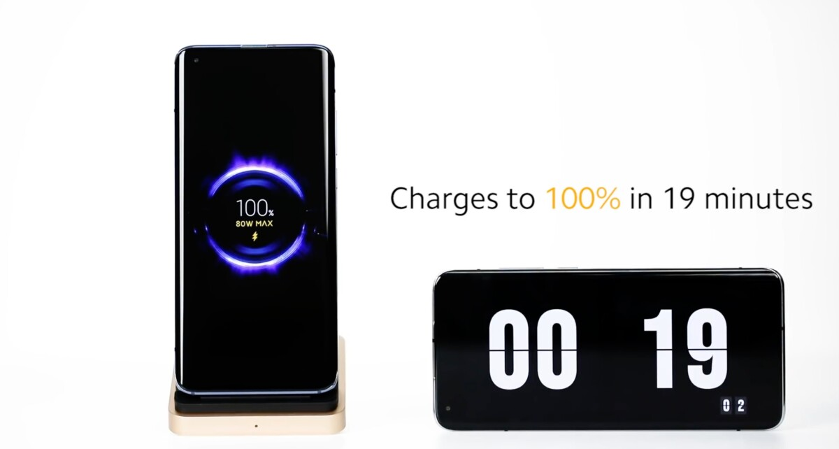 The 50W wireless charging of the Mi 10 Ultra was not enough!  Here is the 80W recharge ... and it takes your breath away