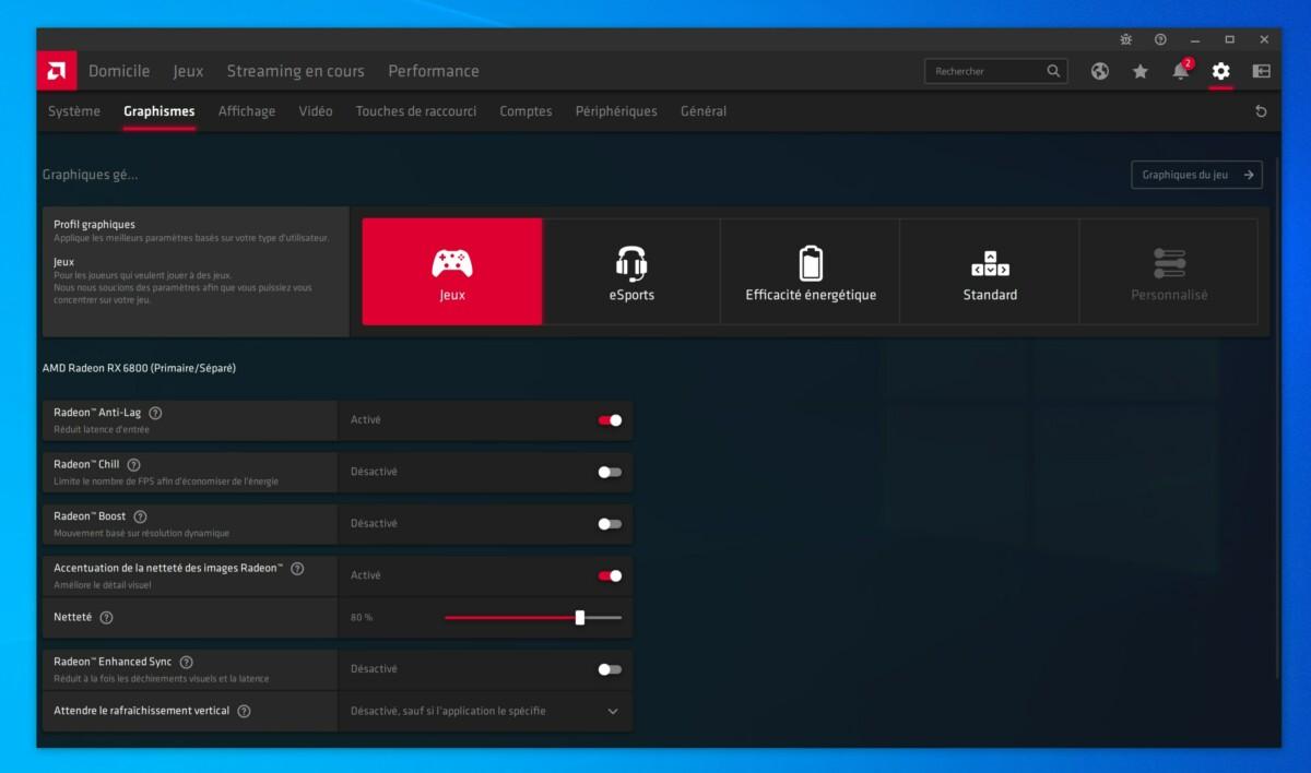 La suite logicielle d'AMD est très complète
