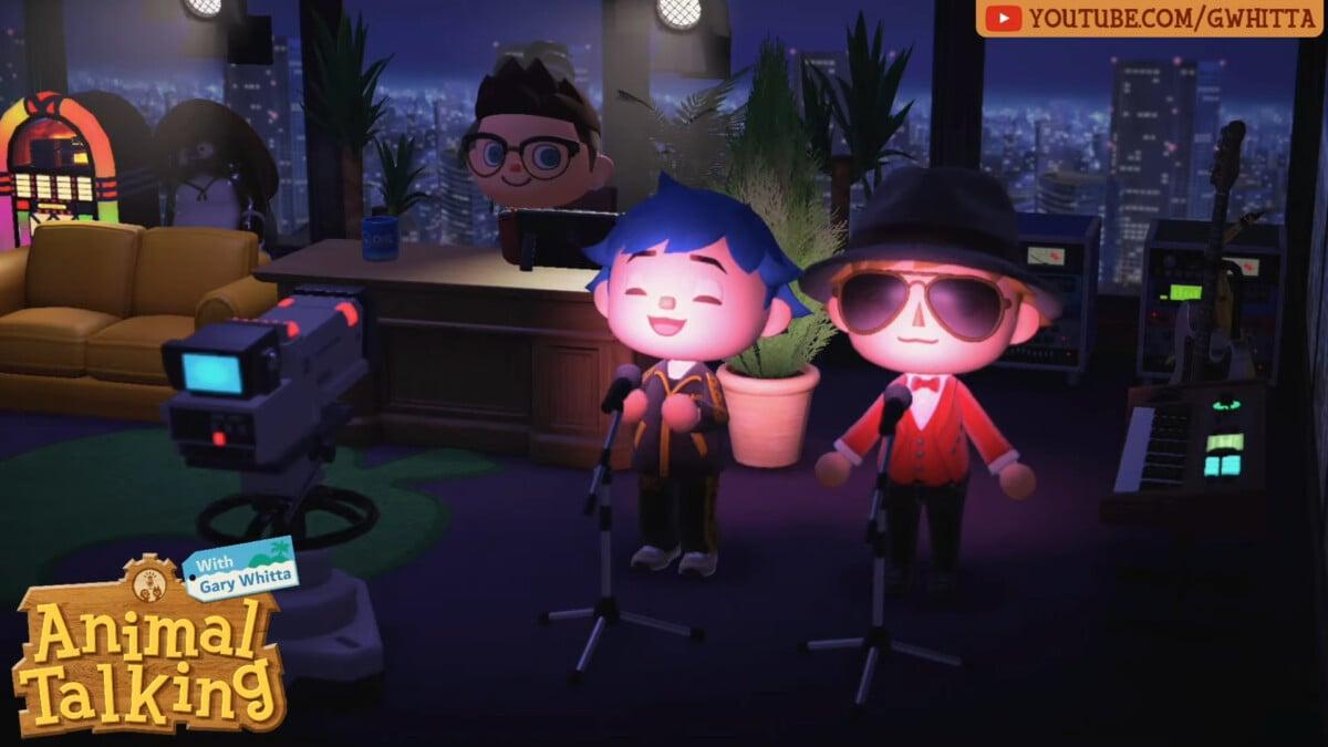 L'émission Animal Talking enregistrée depuis Animal Crossing New Horizons