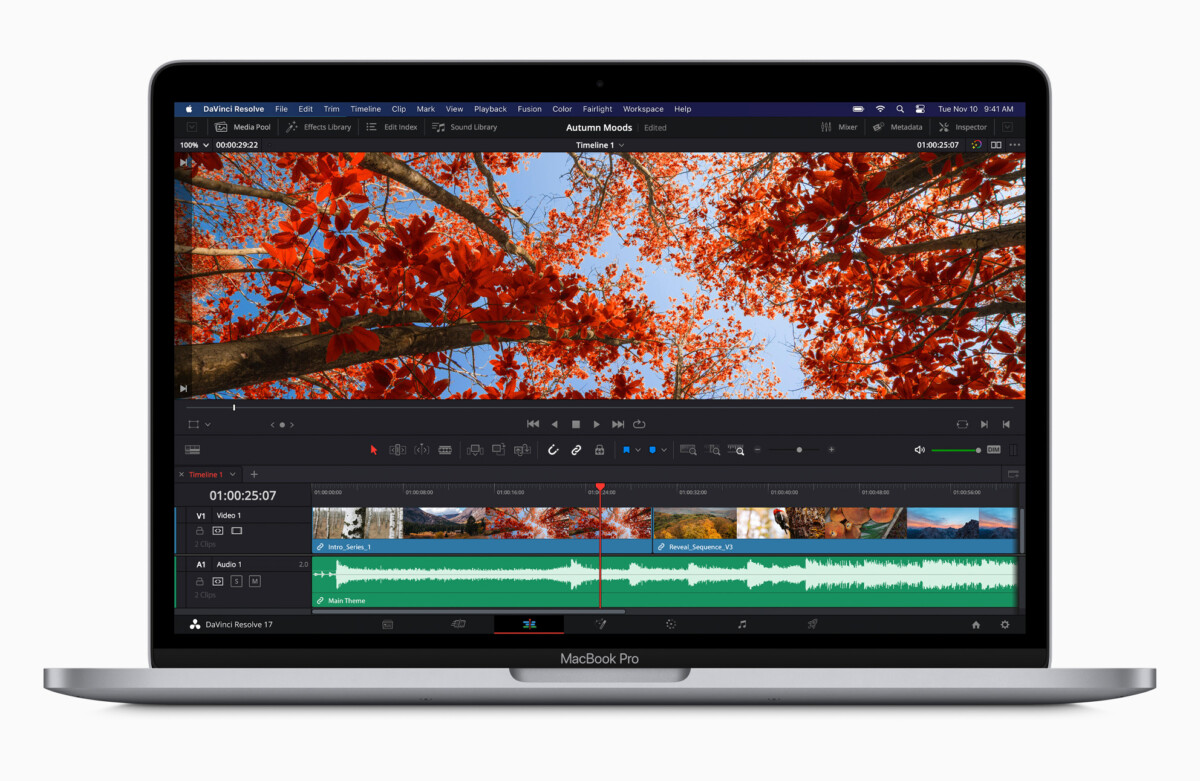 The new MacBook Pro 13 with M1