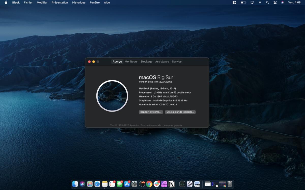macOS Big Sur en version bêta