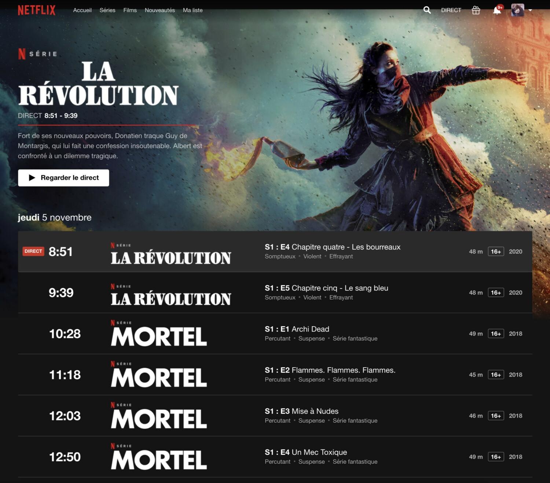Netflix lance Direct, sa TV en ligne rien que pour la France