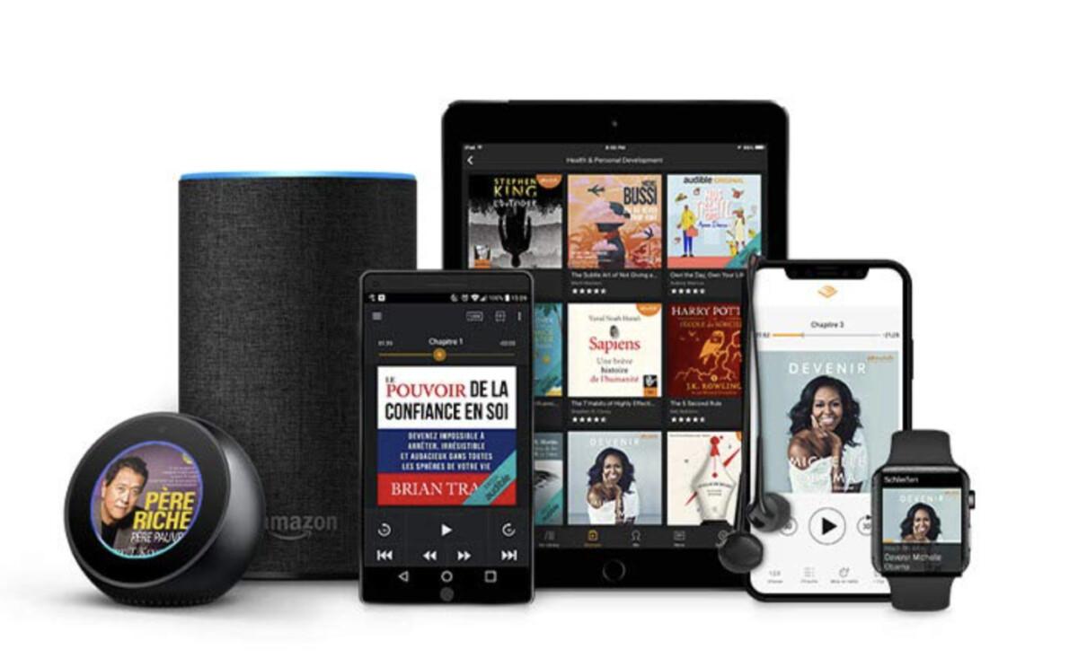 Les livres audio tournent aussi sur la gamme Echo
