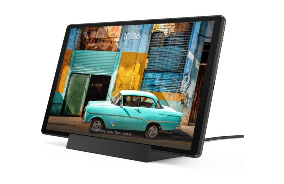 En pack avec un dock, la tablette tactile Lenovo Tab M10 Plus est à -22 %
