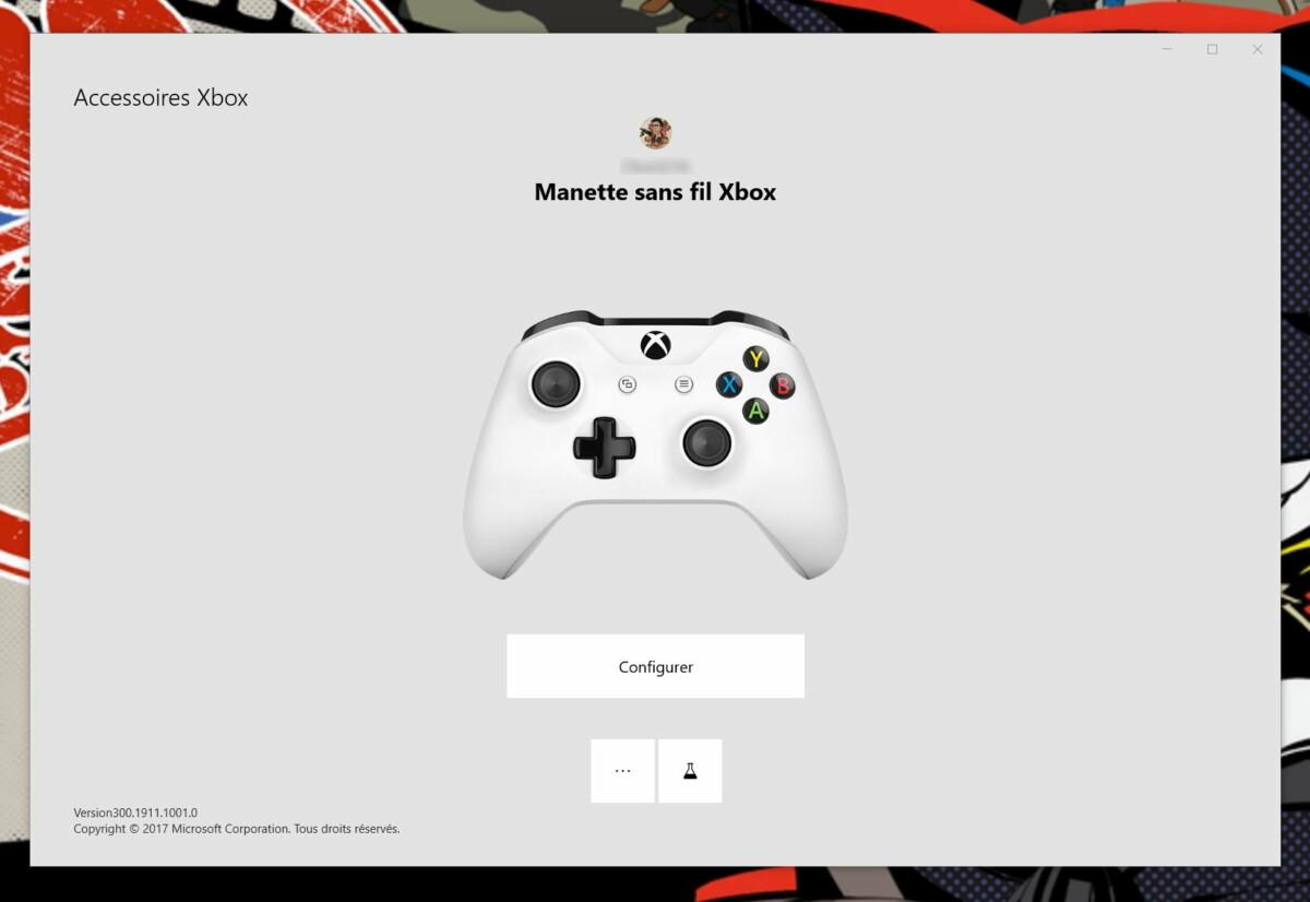 La nouvelle manette est reconnue comme une manette Xbox One sur Windows10