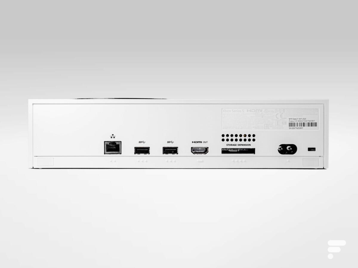 Connectique de la Xbox Series S