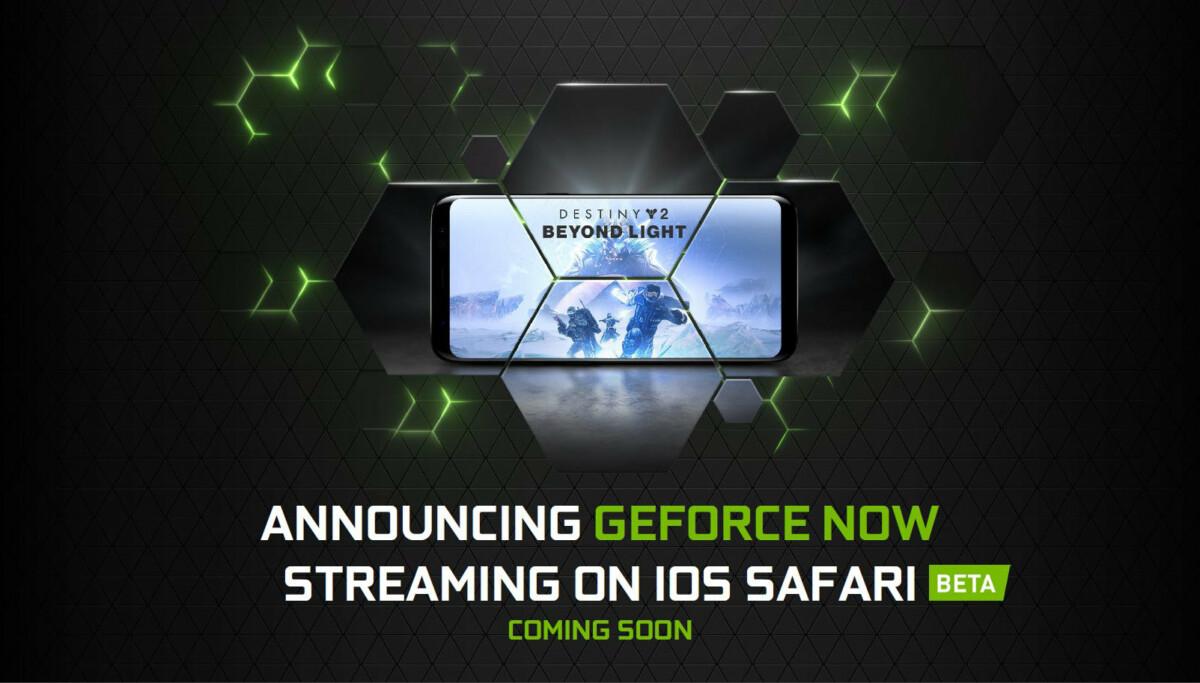 GeForce Now arrive sur iOS (oui, c'est pas un iPhone sur l'image… 🤷♂️)