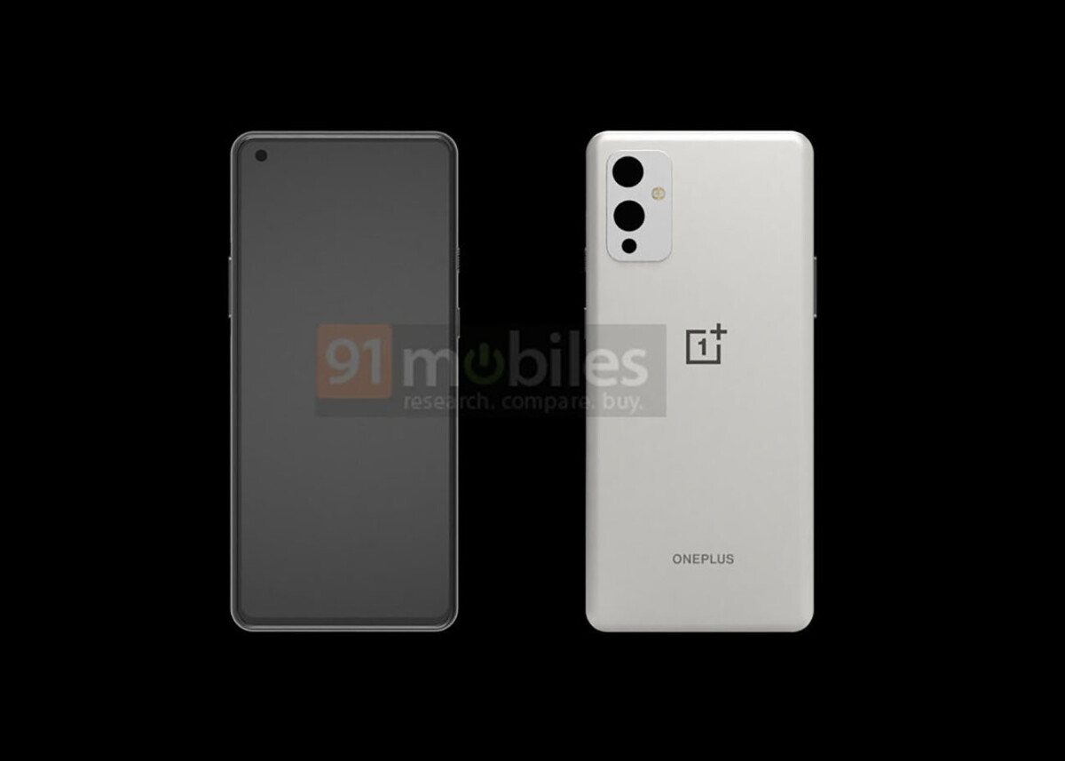The design of the OnePlus 9 according to 91Mobiles