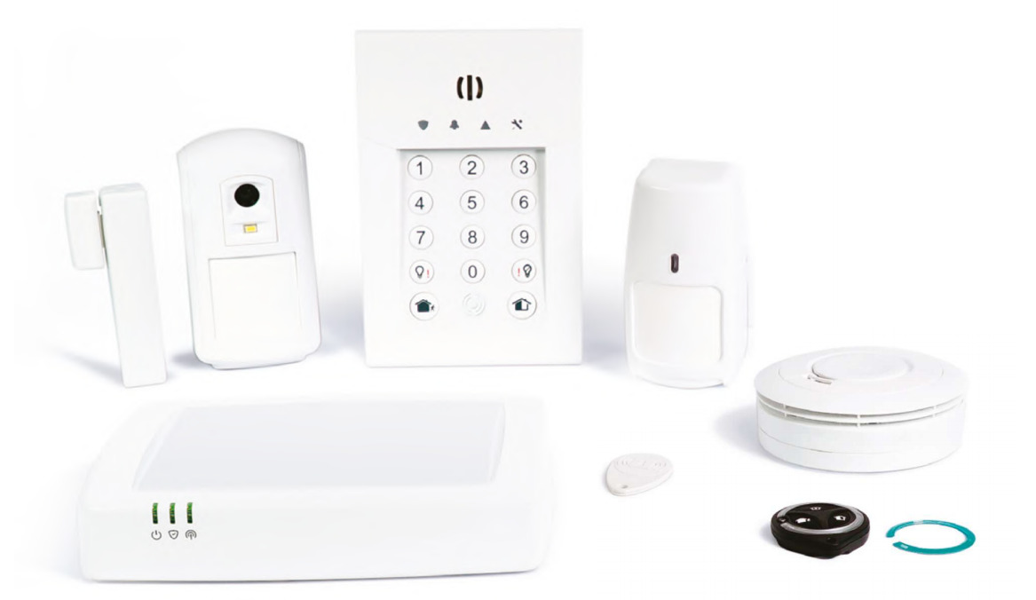 Opening detector, numeric keypad for the alarm, motion detector with photos, infrared motion detector, alarm center ... These accessories do not monitor you, they only work when you are away or when you need to.