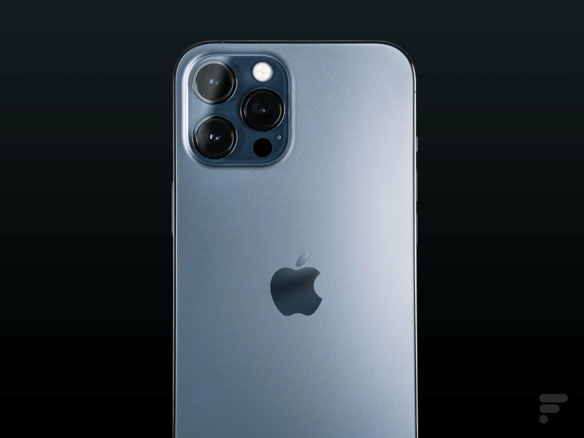 The iPhone 12 Pro Max with its three photo sensors and its LiDAR sensor