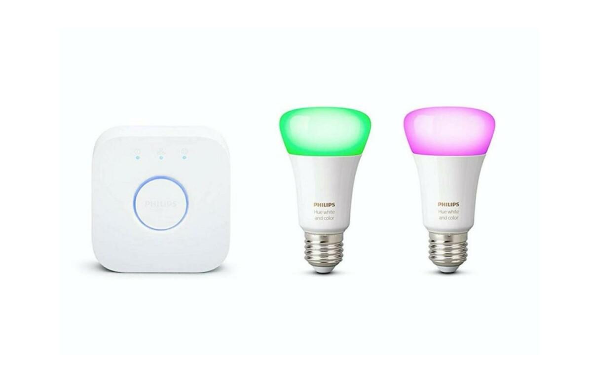 Ce kit de démarrage avec 2 ampoules Philips Hue est de retour à un bon prix