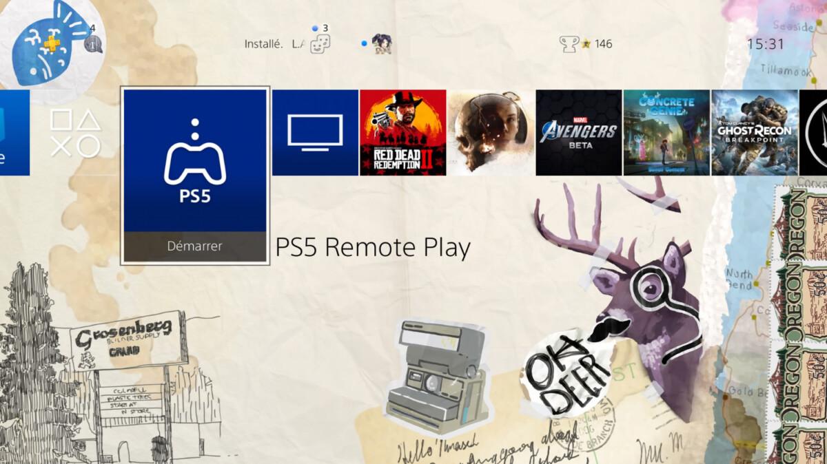 L'application PS5 Remote App sur PS4
