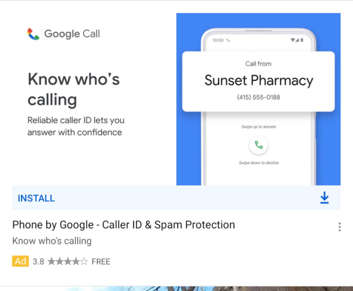 Pub pour Google Call