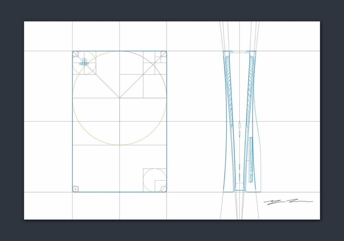 PS5 design sketches