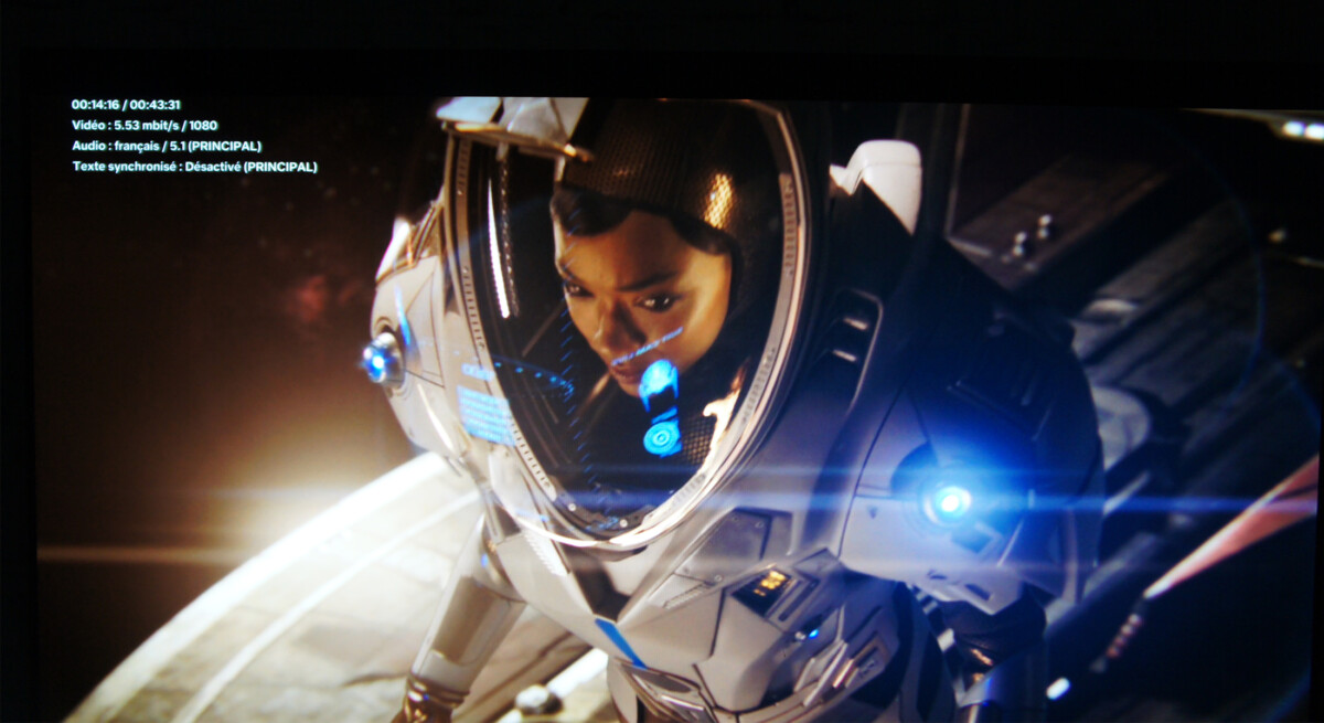 Même cette série Star Trek Discovery sur Netflix en 1080p est très agréable en Dolby Vision ou sous le Mode Netflix