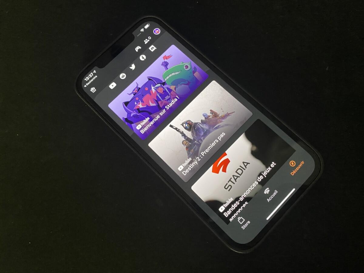 Google Stadia arrive officiellement sur iPhone et iPad