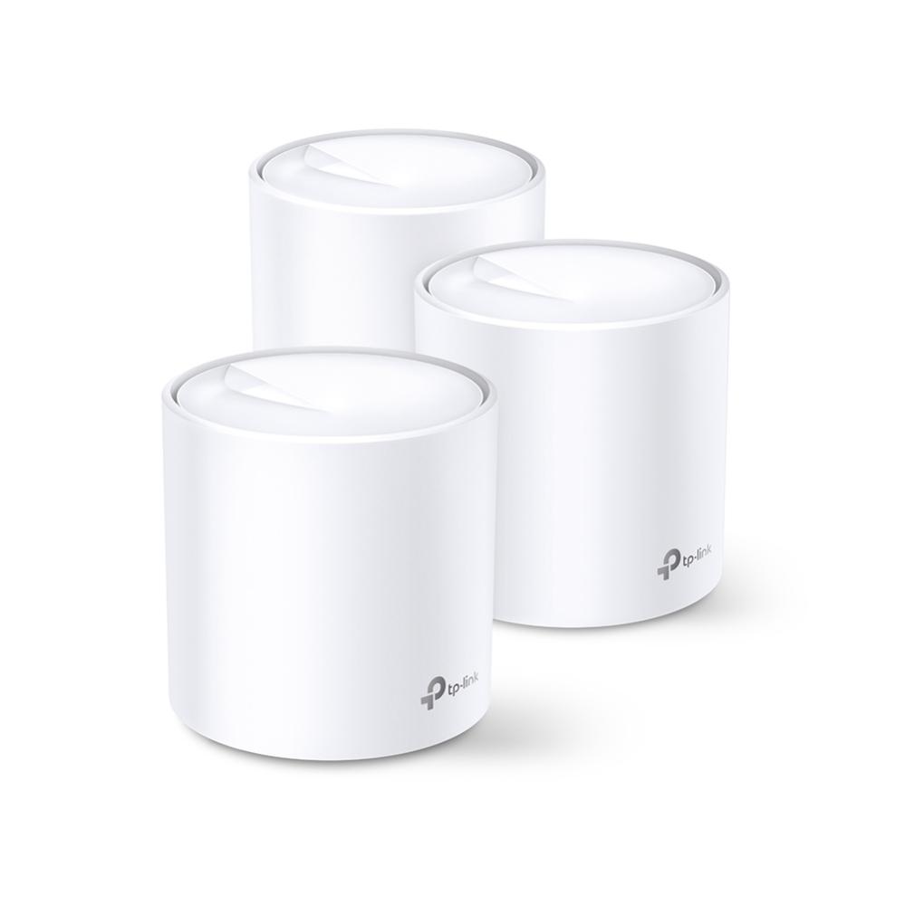 Le design cylindrique des Deco X60 cache astucieusement les 6 antennes du routeur: 2 antennes 2,4GHz et 4 antennes 5GHz.