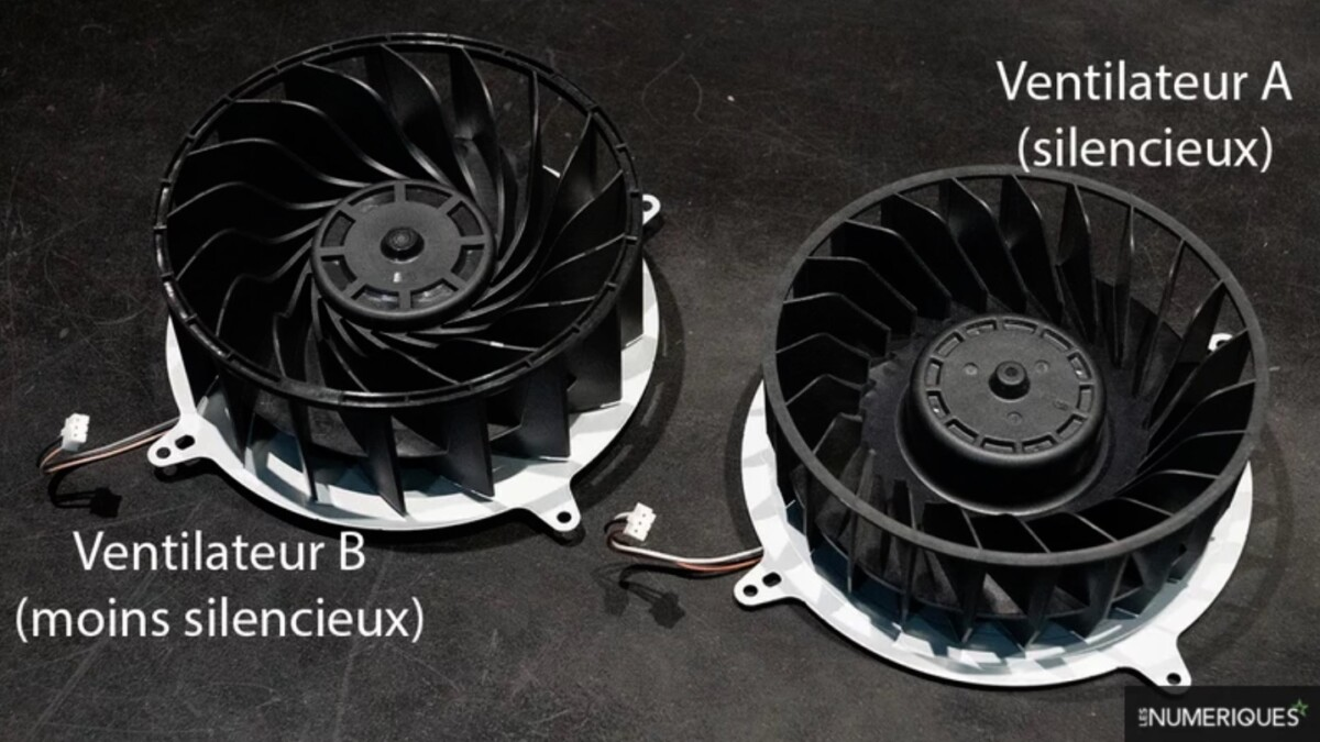 Here are two fans used by two different PS5s, but Sony is obviously using (at least) a third model for some machines.