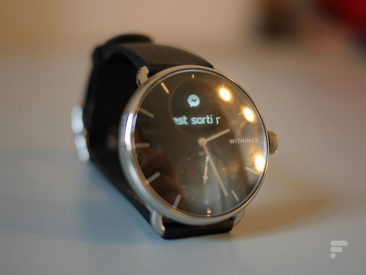 La Withings ScanWatch permet d'afficher les notifications