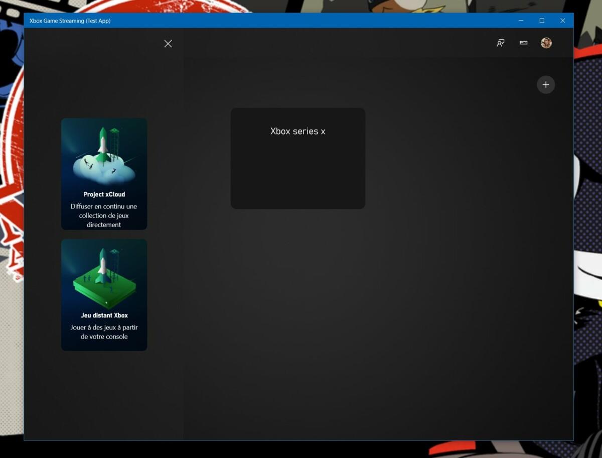 La connexion avec la Xbox Series X est possible