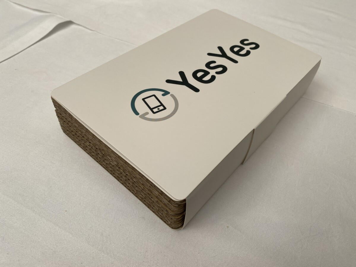 The new YesYes packaging in recyclable cardboard
