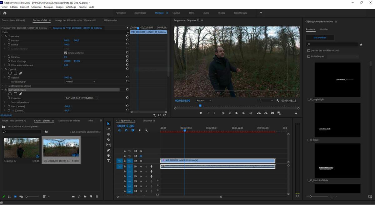 Montage Adobe Premiere Pro
