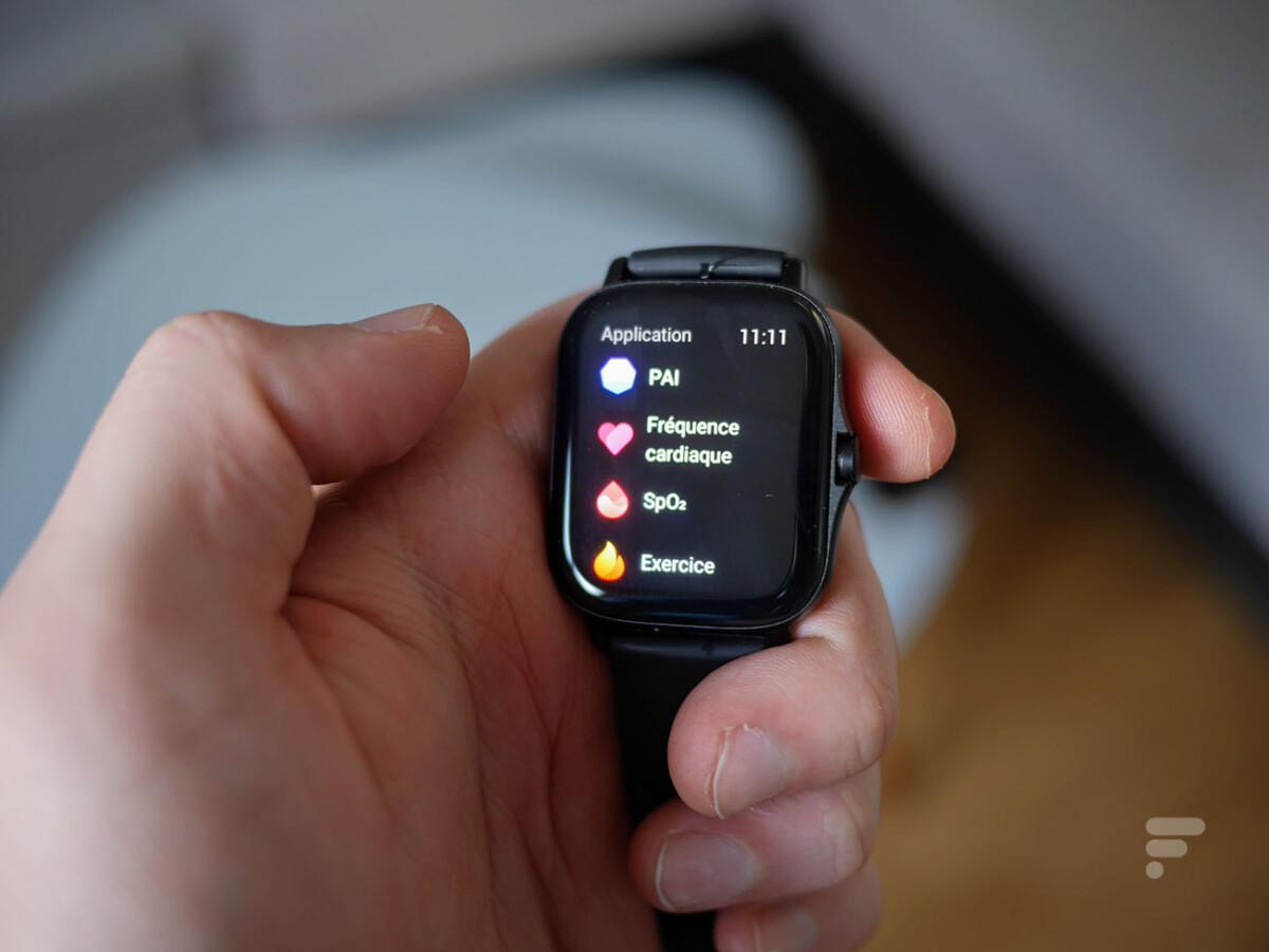L'écran des applications de l'Amazfit GTS 2