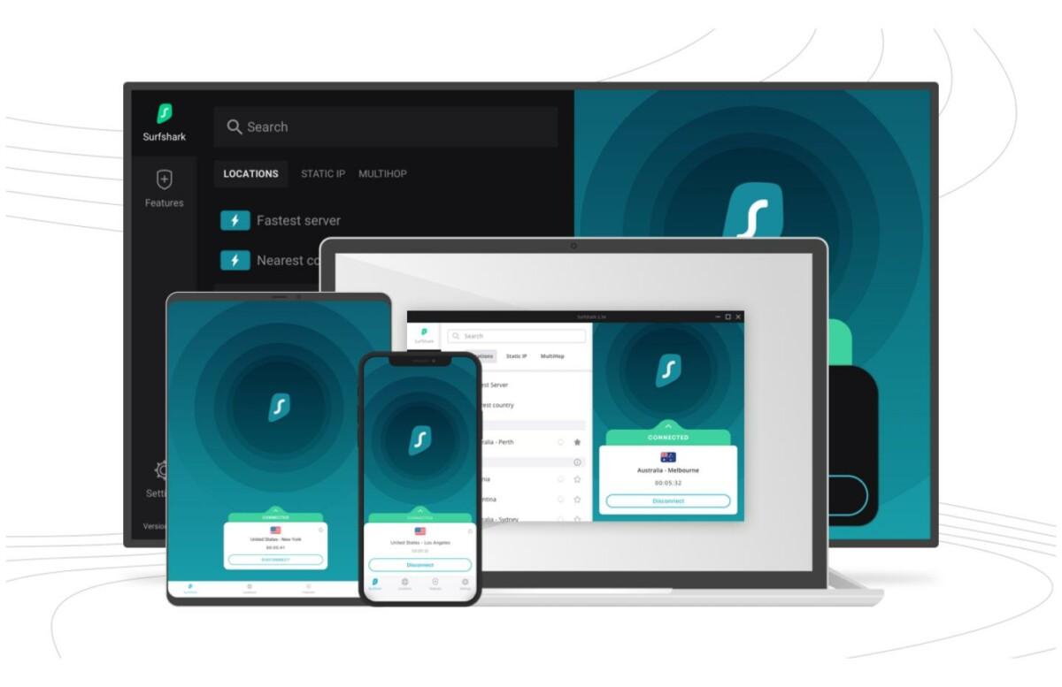 Vous pouvez sécuriser votre connexion grâce à l'application Surfshark disponible sur de nombreuses plateformes