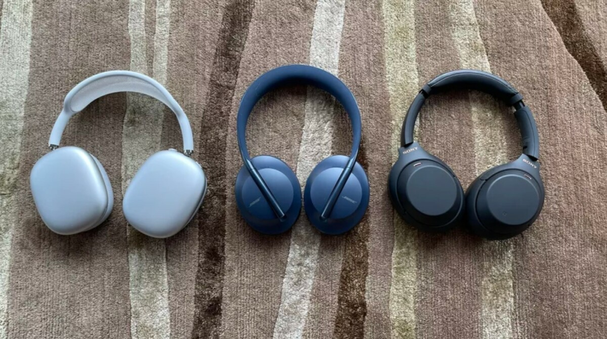 AirPods Max accompanied by Bose Headphones 700 and Sony WH-1000XM4