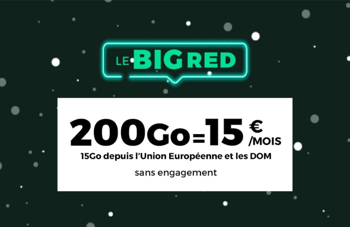 RED by SFR relance un forfait mobile avec 200 Go de 4G pour 15 euros