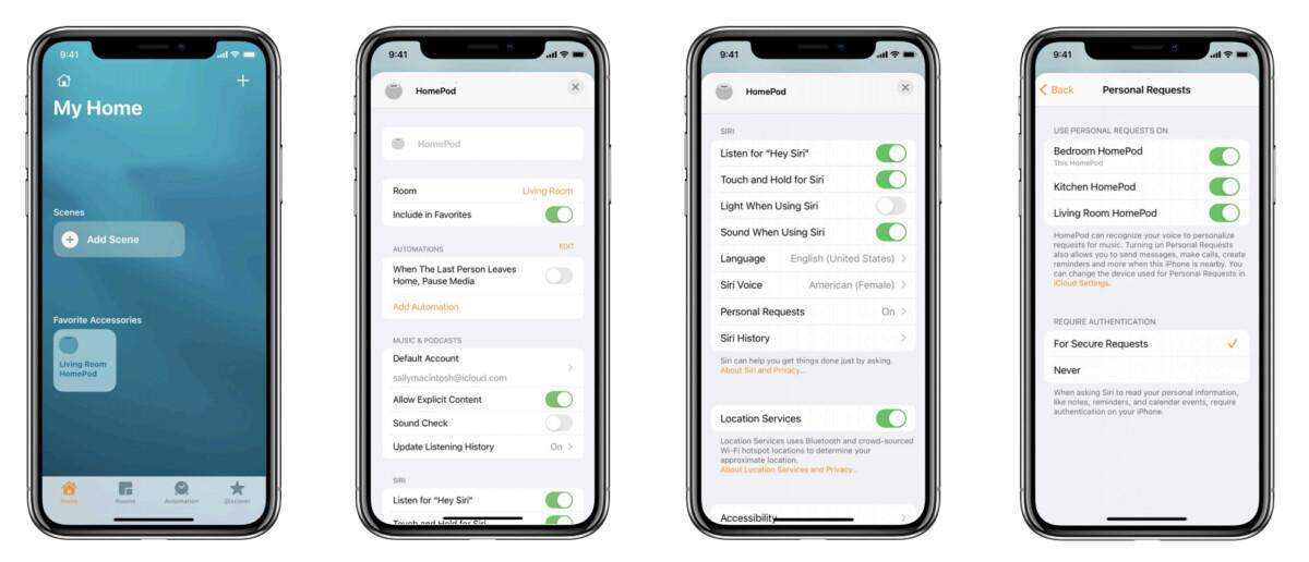 Le HomePod mini s'appuie sur l'app Maison pour tout piloter