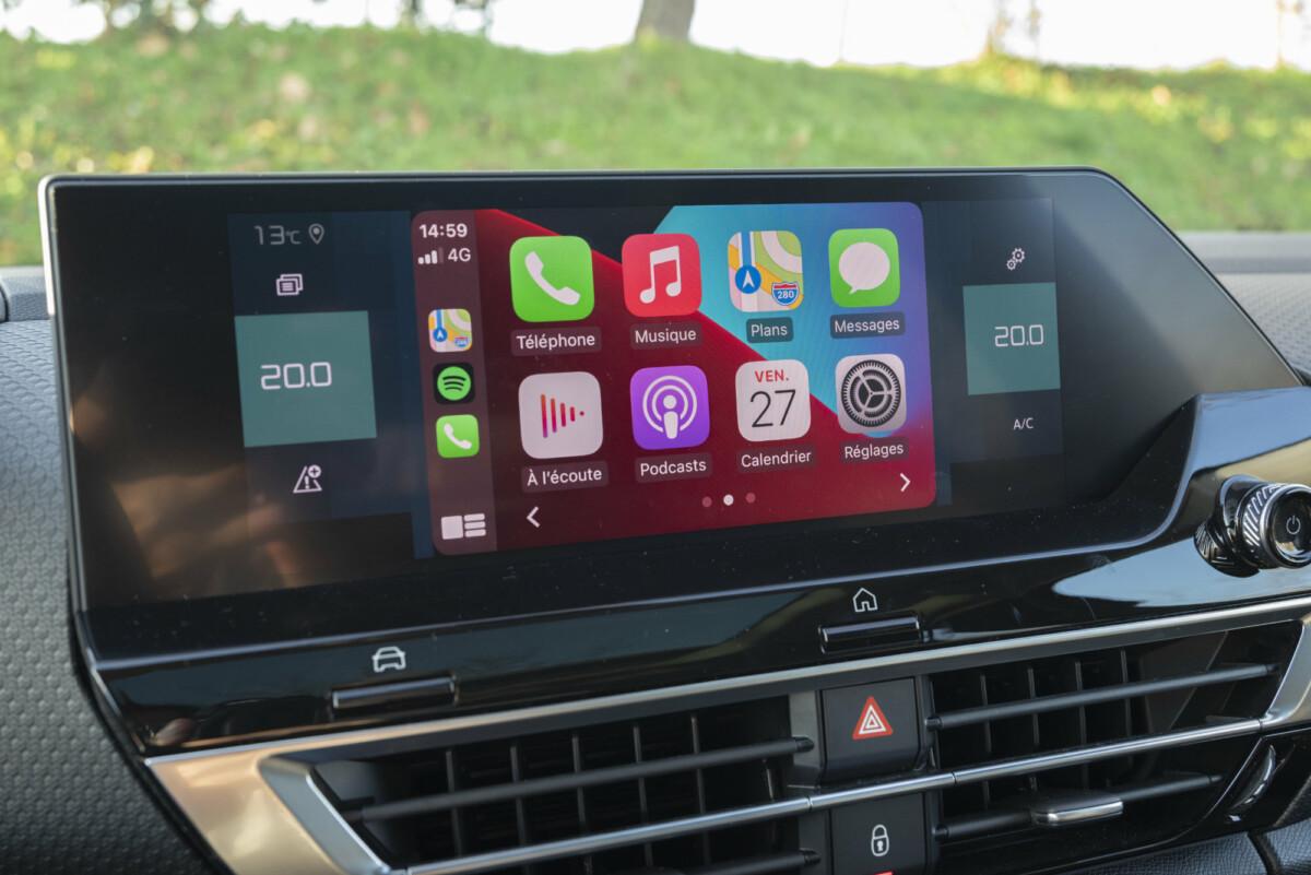 La Citroënë-C4 est compatible avec Apple CarPlay