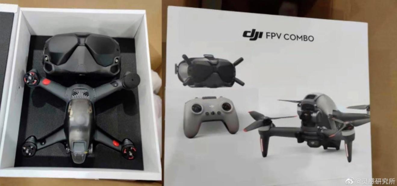 Si l'on en croit ces photos partagées sur Twitter et Weibo, DJI miserait sur le lancement d'un pack regroupant un nouveau drone et ses lunettes FPV
