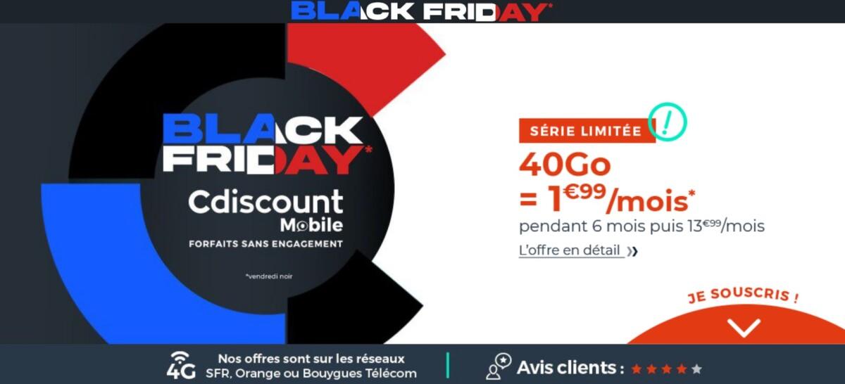 Pour le Black Friday, ce forfait mobile 40 Go passe à 1,99 euro par mois, du jamais vu en 2020