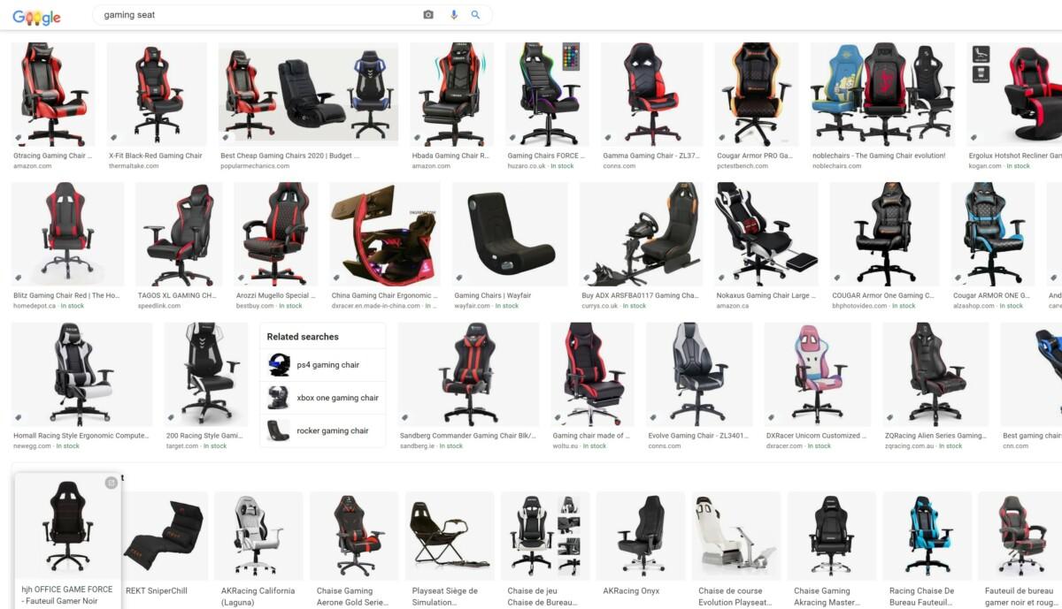 Une recherche Google pour «gaming seats» annonce la couleur