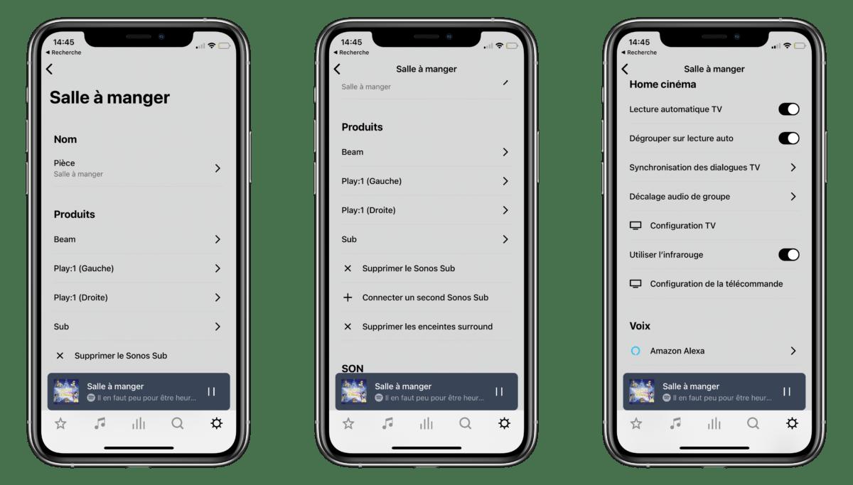 L'application offre de nombreuses options et fonctions