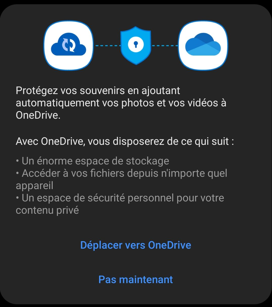 OneDrive recently replaced Samsung Cloud for storing photos online.
