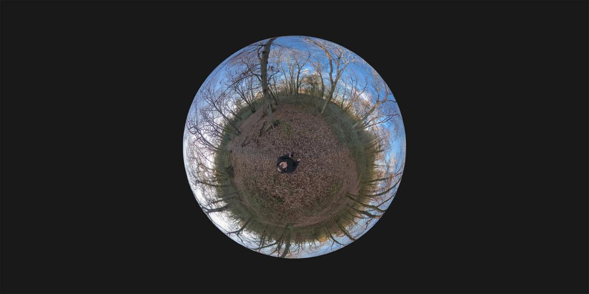Le traditionnel mode sphère «little planet»
