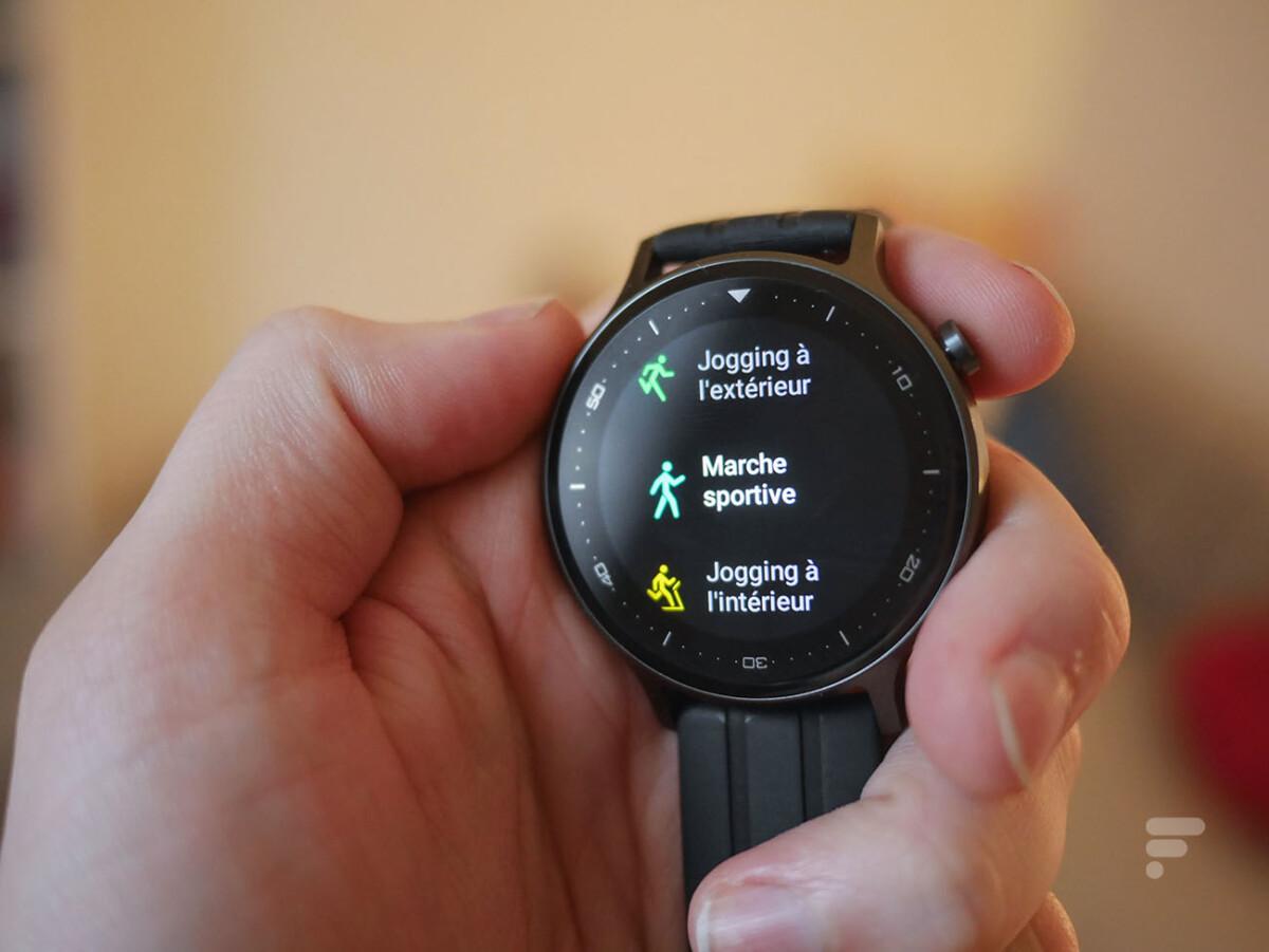 Les modes d'entraînement de la Realme Watch S
