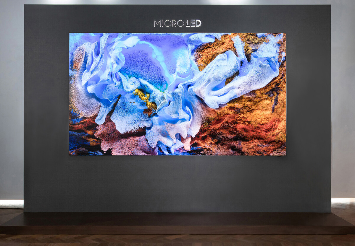 The 110-inch Samsung MicroLED TV screen
