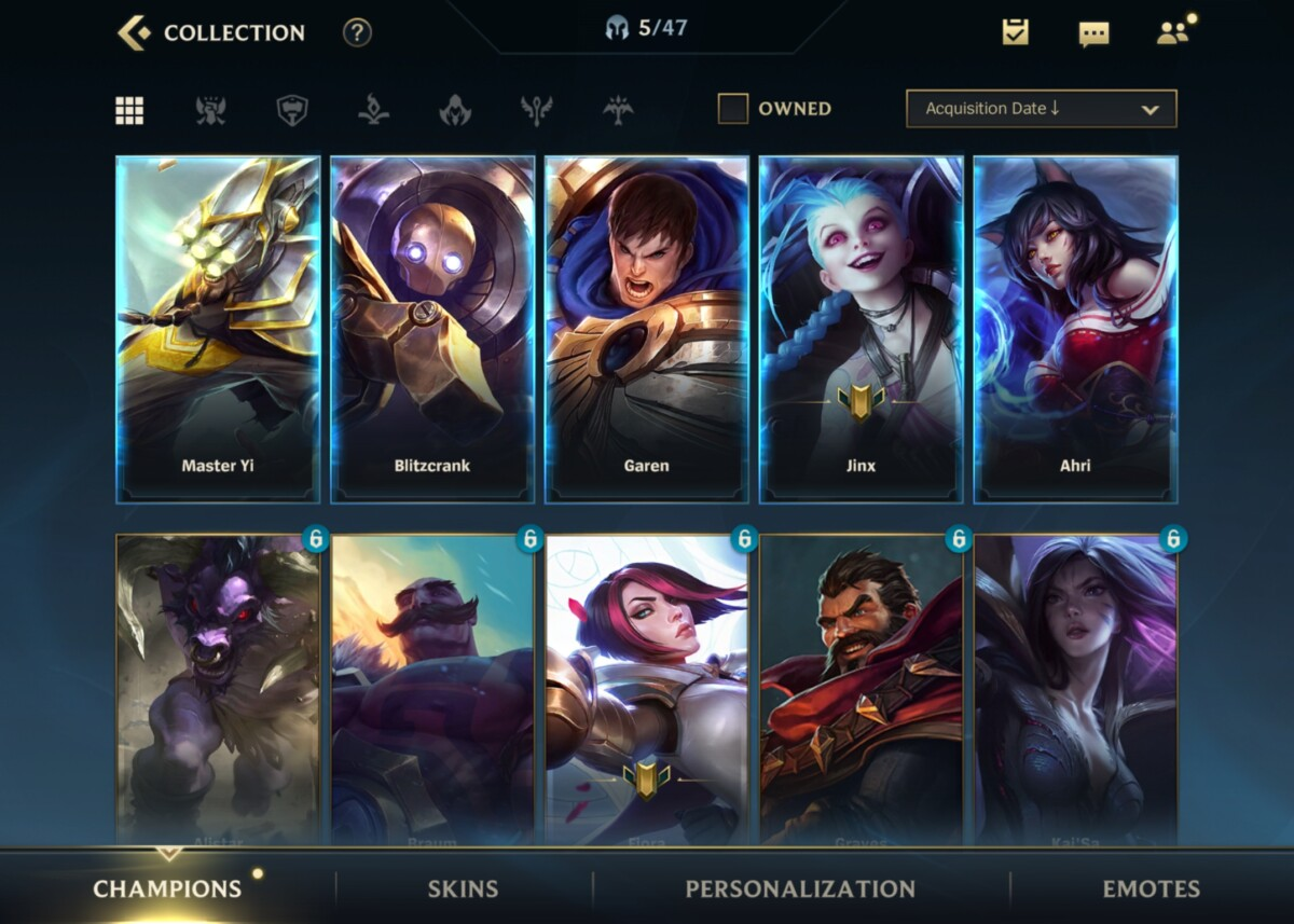 League of Legends: Wild Rift Champions are plentiful and unlock quickly throughout the games