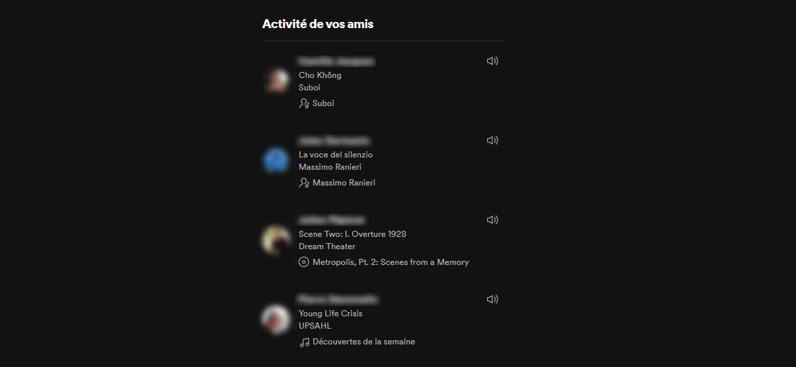 Spotify vous permet de voir ce qu'écoutent vos amis
