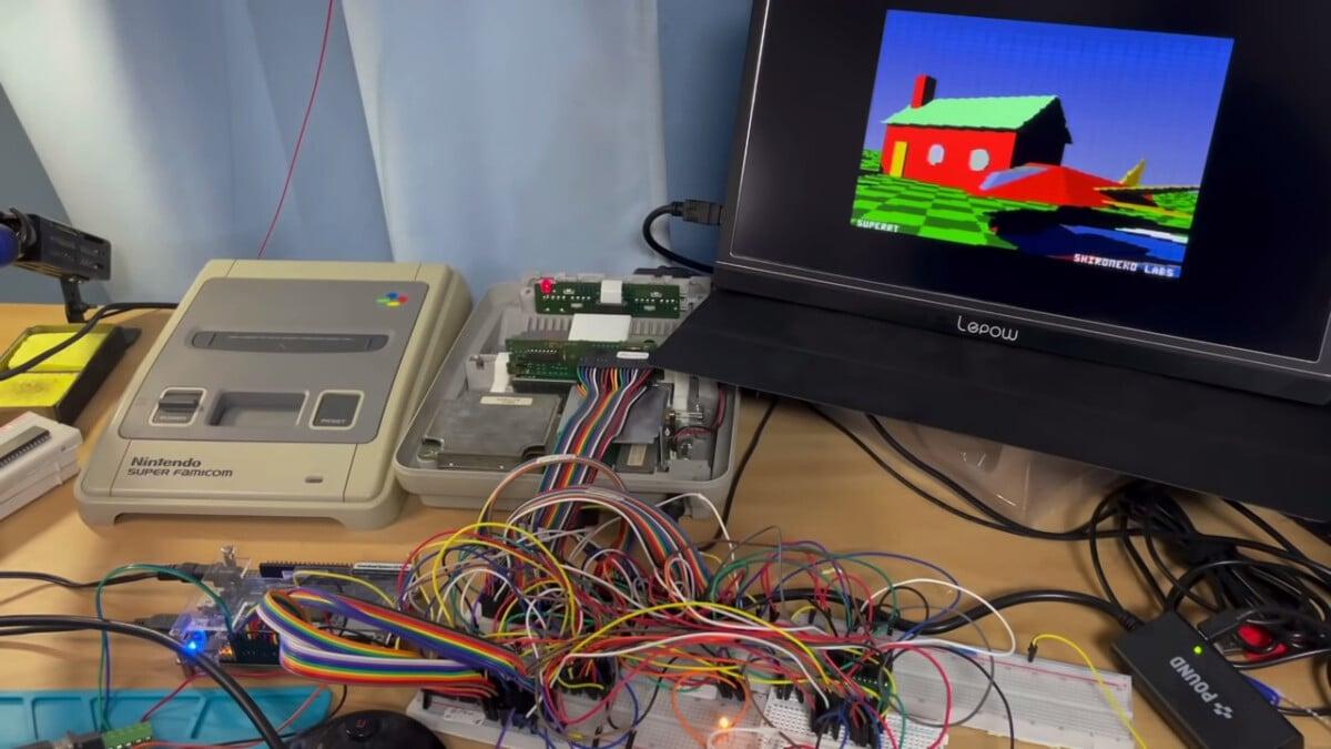 Une Super NES configurée pour supporter le ray tracing