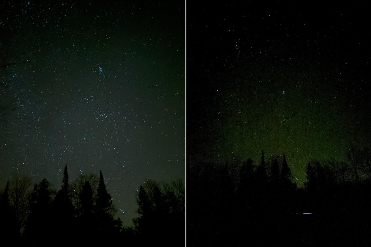 A gauche une photo grand angle, à droite une photo ultra grand angle