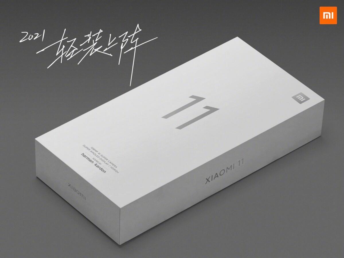 The box of Xiaomi Mi 11
