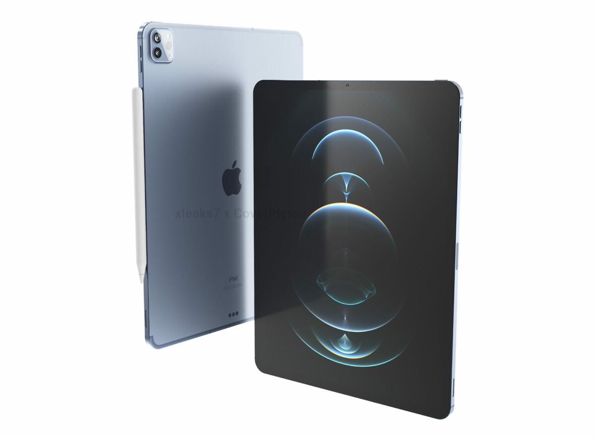 Rendu de l'iPad Pro 12,9 pouces par Pigtou