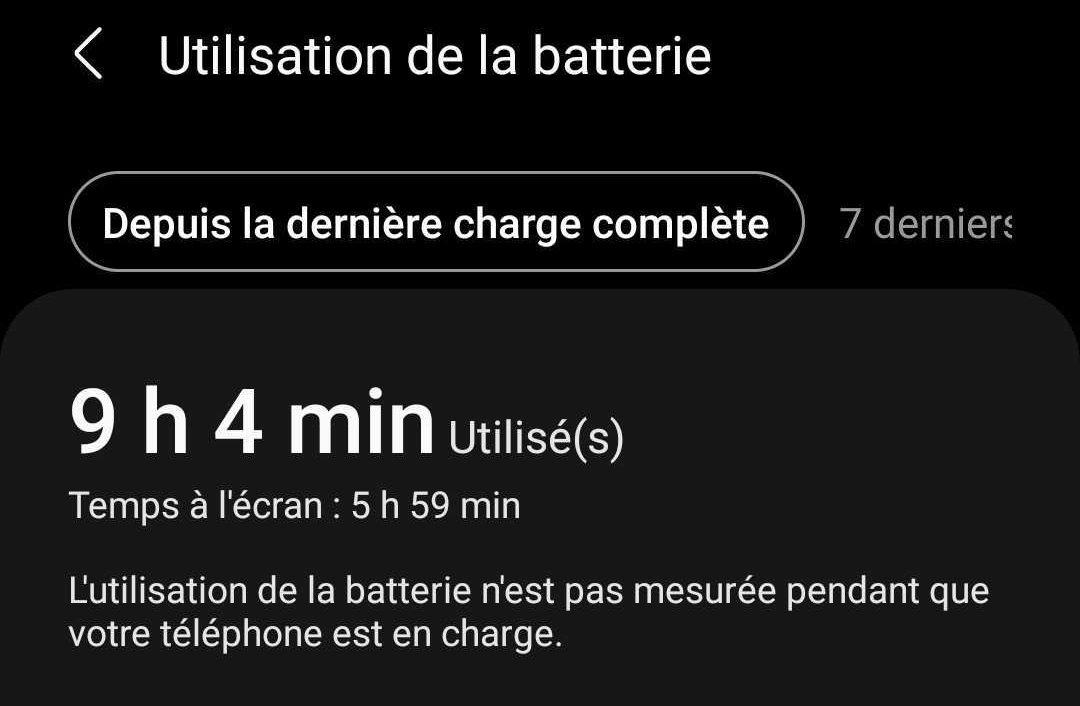 Consommation de batterie sur le Galaxy S21 Ultra