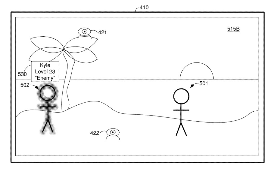 A patent application for facial recognition on an augmented reality headset