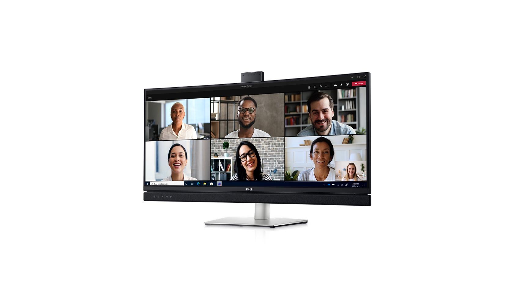 Le Dell C3422WE, est un nouveaux moniteur de 34 pouces conçu pour les visioconférences et certifié Microsoft Teams